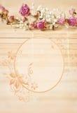 Rocznika obrazek, ładny miękki tło, mali kwiaty obraz royalty free