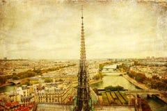 Rocznika obrazek Paryż, Francja Obraz Royalty Free