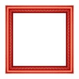 Rocznika obrazka czerwona rama Fotografia Royalty Free