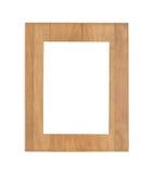 Rocznika obrazka drewniana rama odizolowywająca Fotografia Stock