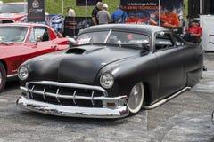 Rocznika obyczajowy czarny samochód Fotografia Royalty Free