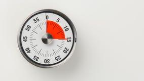 Rocznika odliczanie analogowy kuchenny zegar, 15 minut zostawać Zdjęcia Royalty Free