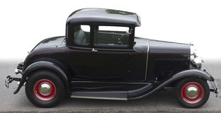 Rocznika odosobniony czarny samochód Zdjęcia Royalty Free