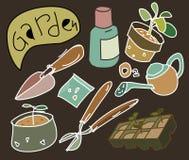 Rocznika ogrodnictwa płaski wektor Zdjęcie Royalty Free