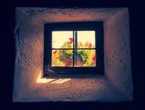 Rocznika okno zdjęcie royalty free