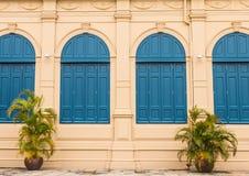 Rocznika okno Historyczny budynek w Wacie Phra Kaew fotografia royalty free
