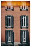 Rocznika okno Klasyczny włoski okno milan Włochy Dom, dom, plenerowy stary zbudować obrazy royalty free