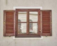 Rocznika okno, Munchen, Niemcy Zdjęcie Stock