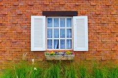 Rocznika okno romansowy pole Obraz Royalty Free