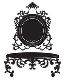 Rocznika Opatrunkowego stołu Barokowy Cesarski set Zdjęcie Royalty Free