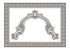 Rocznika ornament i rama Fotografia Royalty Free