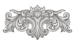 Rocznika ornament i rama Obrazy Royalty Free