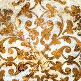 Rocznika ornament Złocista kółkowa zawijas dekoracja obrazy royalty free