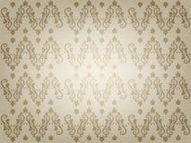 Rocznika ornamentacyjny stary papierowy tło Zdjęcia Royalty Free