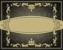 Rocznika ornamentu rama Fotografia Royalty Free