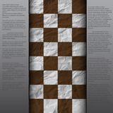 Rocznika pęknięcia papier drapająca pusta szachowa deska Zdjęcia Stock