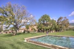 Rocznika pływacki basen w polu Obraz Royalty Free