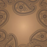 Rocznika Paisley koronkowy ornament. Projekta szablon Ilustracji