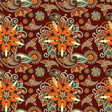 Rocznika Paisley kwiecisty bezszwowy wzór Obrazy Stock