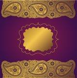 Rocznika Paisley paska koronka. Projekta szablon Ilustracja Wektor