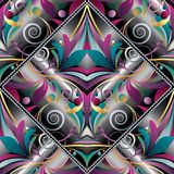 Rocznika Paisley ręka rysujący bezszwowy wzór Kolorowy wektorowy flo Obrazy Royalty Free