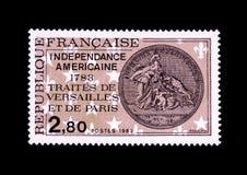 Rocznika pamiątkowy znaczek amerykańska niezależność Obrazy Stock