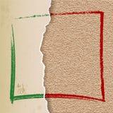 Rocznika papieru łza na Bieliźnianej teksturze Fotografia Stock