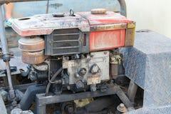 Rocznika parowozowy samochodowy system Część stary silnik diesla ciężki tr Fotografia Royalty Free