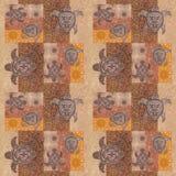 Rocznika patchwork z obrazka grunge tłem Zdjęcie Royalty Free
