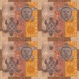 Rocznika patchwork z obrazka grunge tłem Zdjęcia Royalty Free