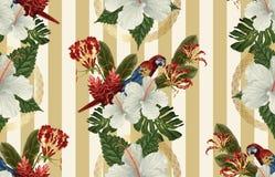 Rocznika Pi?kny i modny Bezszwowy Tropikalny Deseniowy projekt w super wysoka rozdzielczo?? Deseniowa dekoracji tekstura ilustrac ilustracja wektor