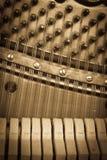 Rocznika pianina klucze obraz stock