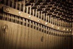 Rocznika pianina klucze fotografia stock