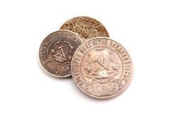 Rocznika pieniądze, monety Pieniądze USSR obsoleted Ja jest już nie ważny, wydychany obrazy royalty free