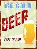 Rocznika piwa znak, Obraz Stock