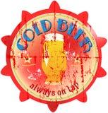 Rocznika piwa znak, Zdjęcie Royalty Free