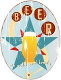 Rocznika piwa znak Fotografia Royalty Free