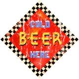 Rocznika piwa znak Obrazy Royalty Free