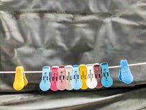 Rocznika plastikowy przepięcie na żądle z starą kahki kanwą zdjęcie stock