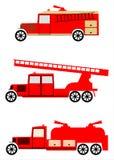Rocznika pożarniczego silnika ciężarówki set Fotografia Royalty Free