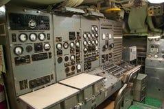 Rocznika podwodny kontrolny pokój fotografia stock