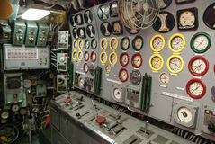 Rocznika podwodny kontrolny pokój Obrazy Royalty Free