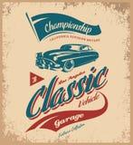 Rocznika pojazdu wektorowy logo odizolowywający na lekkim tle Obraz Royalty Free