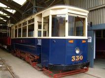 Rocznika pokładu Pojedynczy tramwaj Zdjęcie Royalty Free