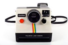 Rocznika polaroidu ziemi kamera oneStep Obrazy Stock