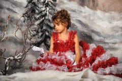 Rocznika portret dziewczyna Obrazy Stock