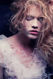 Rocznika portret piękna blondynka obraz stock