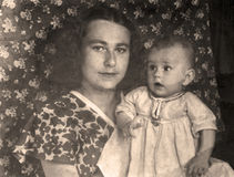 Rocznika portret, 1951 rok obrazy stock