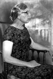 Rocznika portreta Retro fotografia, kobieta Fotografia Stock
