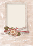 Rocznika powitań karta ukochany z różami Fotografia Stock